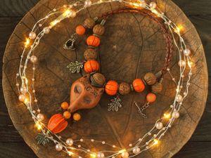 Комплект  «Страж внутреннего огня»  (колье и серьги). Ярмарка Мастеров - ручная работа, handmade.