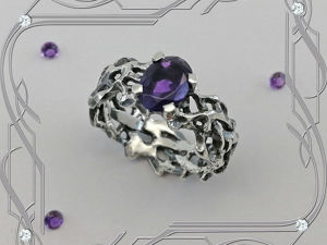 Кольцо «Винтаж- Vintage- black» серебро 925 пробы, аметист. Ярмарка Мастеров - ручная работа, handmade.