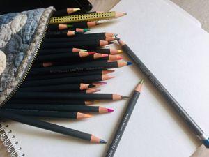 Техники работы художественными цветными карандашами. Виды штриховок. Ярмарка Мастеров - ручная работа, handmade.