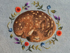Delighting Embroidery: Tiny Animals by Chloe Giordano. Livemaster - handmade