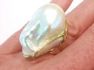 Кольцо«Pearl Ideal» жемчуг барокко,золото 585 пробы. Ярмарка Мастеров - ручная работа, handmade.