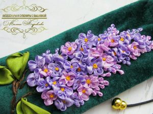 Creating Flowers for Lilac Embroidery. Livemaster - handmade