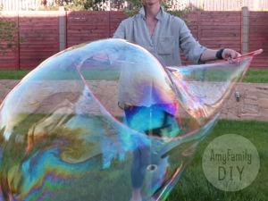 Рецепт больших мыльных пузырей. Инструмент для запускания. Ярмарка Мастеров - ручная работа, handmade.