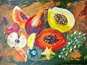 Рисуем натюрморт: тропические фрукты. Ярмарка Мастеров - ручная работа, handmade.