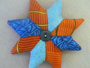 """Елочная игрушка """"Рождественская звезда"""" пэчворк. Ярмарка Мастеров - ручная работа, handmade."""
