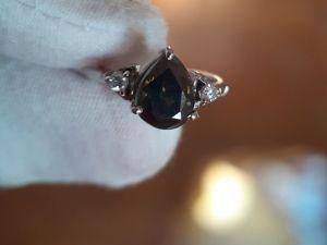 Видеообзор кольцо натуральным бриллиантом 2.45ct. Ярмарка Мастеров - ручная работа, handmade.