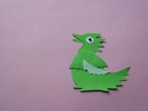 Снимаем мультфильм-перекладку из бумаги — зеленого дракона. Ярмарка Мастеров - ручная работа, handmade.