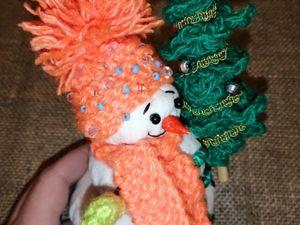 Шьем милого новогоднего снеговика. Ярмарка Мастеров - ручная работа, handmade.