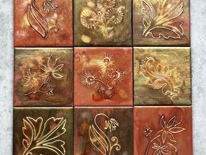 Расписываем панно из плитки Fiery flowers. Ярмарка Мастеров - ручная работа, handmade.
