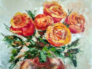 Новая картина и о чем расскажет цвет розы!. Ярмарка Мастеров - ручная работа, handmade.