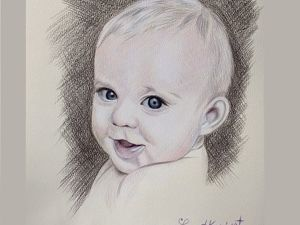 Детский портрет. Ярмарка Мастеров - ручная работа, handmade.