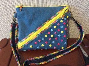 Небольшая яркая сумочка своими руками. Ярмарка Мастеров - ручная работа, handmade.