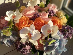 Акция на шикарную корзину цветов. Ярмарка Мастеров - ручная работа, handmade.