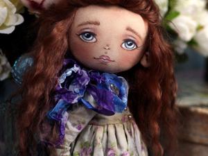 Небольшой фотосет коллекционной текстильной куклы. Ярмарка Мастеров - ручная работа, handmade.