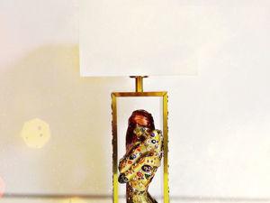 Лампа/ декоративный светильник/ ночник Очарованная муза. Густав Климт. Ярмарка Мастеров - ручная работа, handmade.