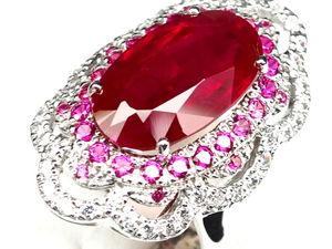 Эффектное кольцо с натуральным крупным рубином. Ярмарка Мастеров - ручная работа, handmade.