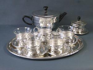 Редкий чайный  набор   Saale Glas  Bauhaus- Design  1950-1959 гг. Ярмарка Мастеров - ручная работа, handmade.