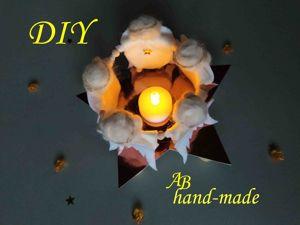 Рождественский подсвечник с ангелочками. Ярмарка Мастеров - ручная работа, handmade.