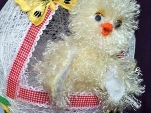 Шьем пушистого цыпленка для пасхальной декорации. Ярмарка Мастеров - ручная работа, handmade.