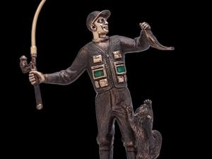 Новинка! Статуэтка бронзовая  «FIsherman». Ярмарка Мастеров - ручная работа, handmade.