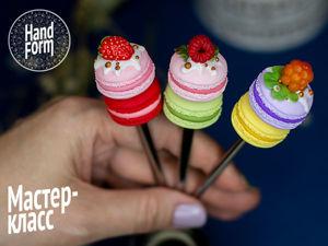 Создаем декор из полимерной глины: сладкая ложечка Macarons. Ярмарка Мастеров - ручная работа, handmade.