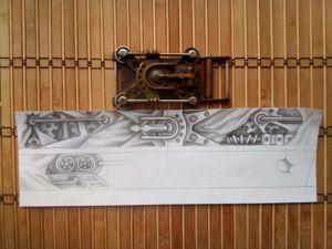 Изготовление ремня. Ярмарка Мастеров - ручная работа, handmade.