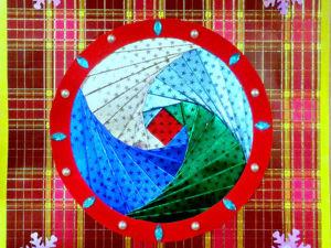 Создаем новогоднюю открытку. Ярмарка Мастеров - ручная работа, handmade.