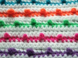 Вяжем разноцветный узор. Ярмарка Мастеров - ручная работа, handmade.