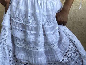 Костюм летний белый из шитья и кружева. Ярмарка Мастеров - ручная работа, handmade.