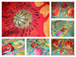 Лоскутное покрывало  «Маки»  — современный пэчворк в интерьере!. Ярмарка Мастеров - ручная работа, handmade.
