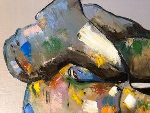 Акция дня! Картина  «Влюбленный слон» !!. Ярмарка Мастеров - ручная работа, handmade.