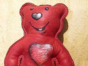 Кожаный медвежонок своими руками. Ярмарка Мастеров - ручная работа, handmade.
