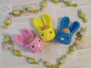 Вяжем пасхального кролика — корзинку для яиц. Ярмарка Мастеров - ручная работа, handmade.
