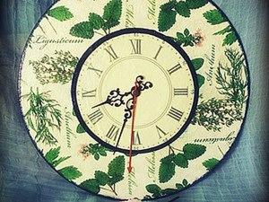 """Мастерим часы из виниловой пластинки """"Ароматные травы"""". Ярмарка Мастеров - ручная работа, handmade."""