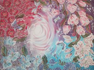 Батик платок шелковый Радость бытия. Ярмарка Мастеров - ручная работа, handmade.