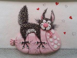 Лепим прикольный триптих «Кот и колбаса». Часть 1. Ярмарка Мастеров - ручная работа, handmade.