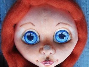 Как нарисовать радужку глаз текстильной куклы акварельными карандашами. Ярмарка Мастеров - ручная работа, handmade.