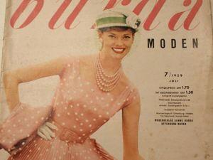 Burda moden 7/1959 Бурда Моден. Ярмарка Мастеров - ручная работа, handmade.