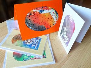 Мастерим открытки с мини-батиком. Ярмарка Мастеров - ручная работа, handmade.