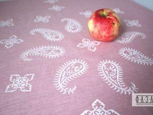Мастер-класс: верховая набойка льняной скатерти. Ярмарка Мастеров - ручная работа, handmade.