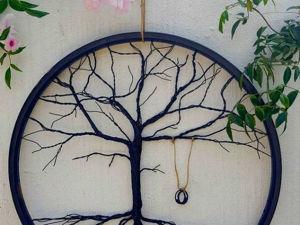 Превращаем велосипедный диск в интерьерное украшение «Древо жизни». Ярмарка Мастеров - ручная работа, handmade.