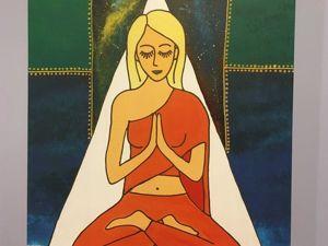 Комментарий к картине  « Женщина — Будда». Ярмарка Мастеров - ручная работа, handmade.