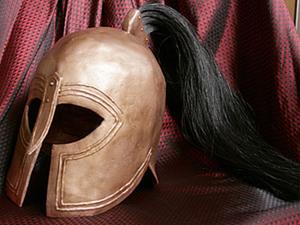 """Продолжение """"Илиады"""" или Шлем Греческого Гоплита. Ярмарка Мастеров - ручная работа, handmade."""