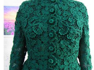 Шёлковый жакет  «Татьяна»  в изумрудном цвете. Ярмарка Мастеров - ручная работа, handmade.