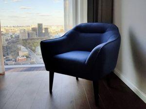 Синяя ткань как акцент в интерьере . Ярмарка Мастеров - ручная работа, handmade.