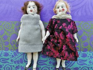 Из какого материала сделаны эти антикварные куколки миньонетт?. Ярмарка Мастеров - ручная работа, handmade.