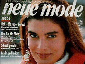 Neue mode 12 1990 (декабрь). Ярмарка Мастеров - ручная работа, handmade.