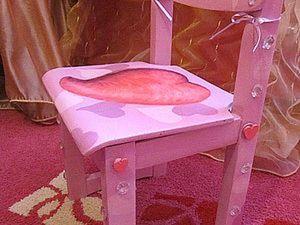 Роспись-декорирование детского стула. Ярмарка Мастеров - ручная работа, handmade.