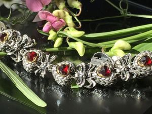 Гранатовый браслет от L&W. Ярмарка Мастеров - ручная работа, handmade.