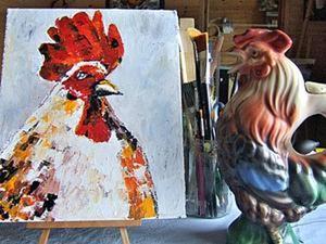 Некоторые приемы рисования мастихином. Ярмарка Мастеров - ручная работа, handmade.